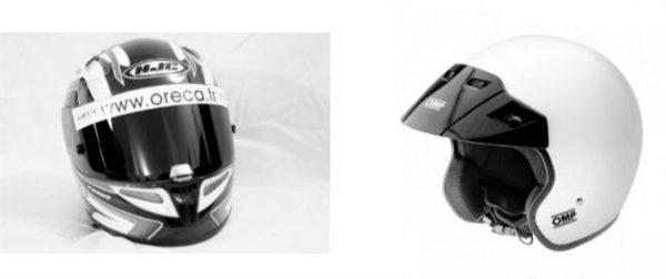 A gauche un casque intégral et à droite un casque jet