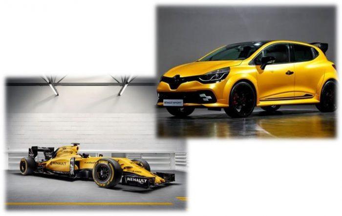 F1 RS 16 et Clio RS 16